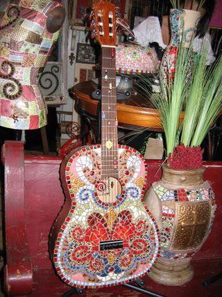 Mosaic guitar@curlyqmosaics.com