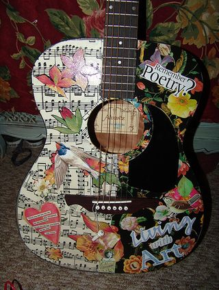 Decoupage guitar@modpodgerocks.blogspot.com