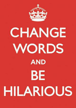 Keep calm change words@doobybrain