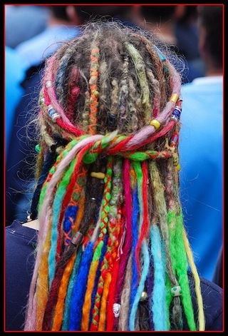 Hair colored dreadlocks@flickriver