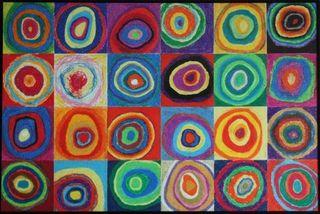Kandinsky inspired @jeaninallhonesty.blogspot.com