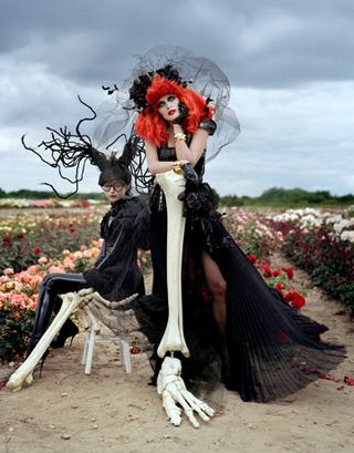 Tim walker for tim burton fashion