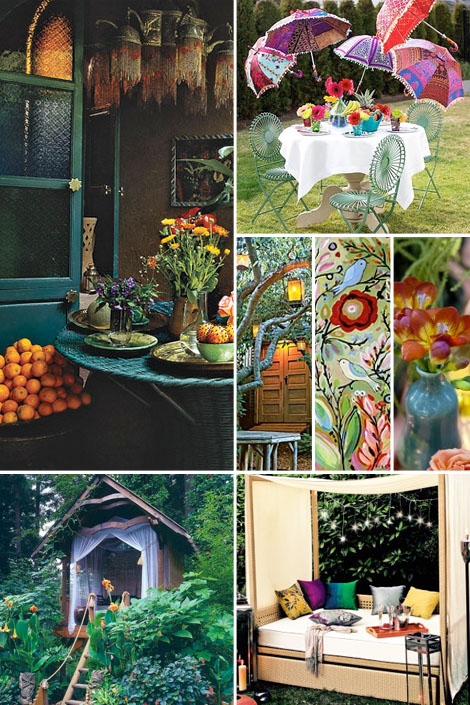 Bohemian Backyard Design : Bohemian Garden Decor 2015  Home Design Ideas