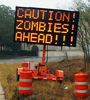 Zombies sign @littlebigtop.blogspot.com