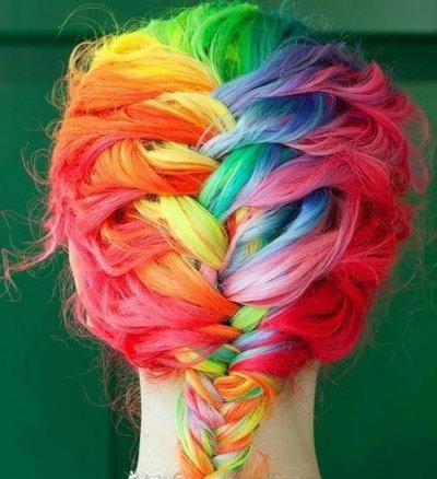 Rainbow-fishtail-braid-tumblr-bohocircus