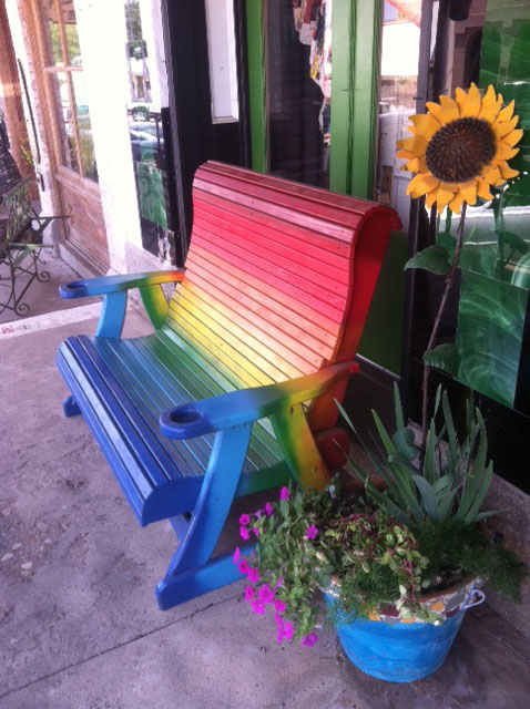 Rainbow-park-bench-bohocircus