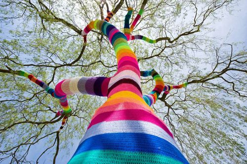 Yarn-bombed-tree-bohocircus